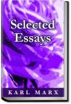 Selected Essays | Karl Marx