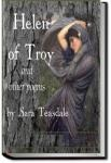 Helen of Troy and Other Poems | Sara Teasdale