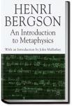 An Introduction to Metaphysics | Henri Bergson