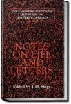 Notes on Life and Letters | Joseph Conrad