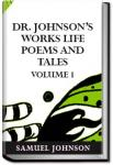 Dr. Johnson's Works: Life, Poems, and Tales, Volum | Samuel Johnson