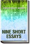 Nine Short Essays | Charles Dudley Warner