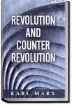 Revolution and Counter-Revolution | Karl Marx