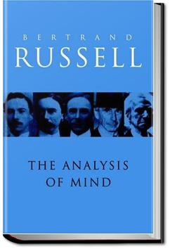 The Analysis of Mind | Bertrand Russell