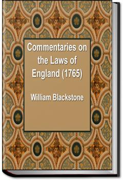 Commentaries on the Laws of England | William Blackstone