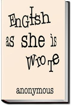 English as She is Wrote |