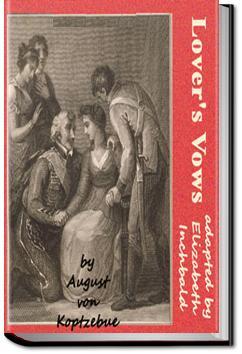Lover's Vows | Elizabeth Inchbald