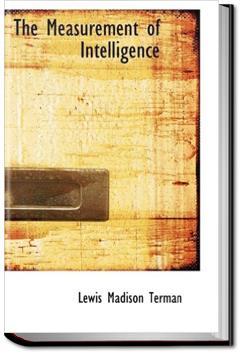 The Measurement of Intelligence   Lewis Terman